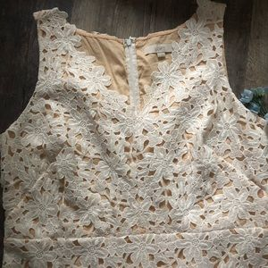 LOFT Dresses - Loft   White Floral Lace Sheath Dress
